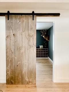 Rustic Barn Door and Hardwood Floors