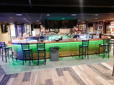 Cornerstone Pub and Eatery - Bar made of red oak