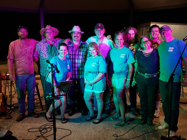 The MITP Crew with Band