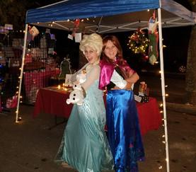 Elsa and Anna at Holiday Concert