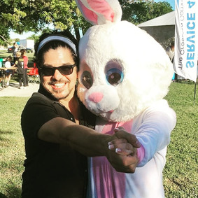 Ruben V with the Easter Bunny