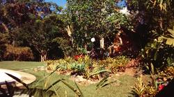 O jardim e a sauna filandesa