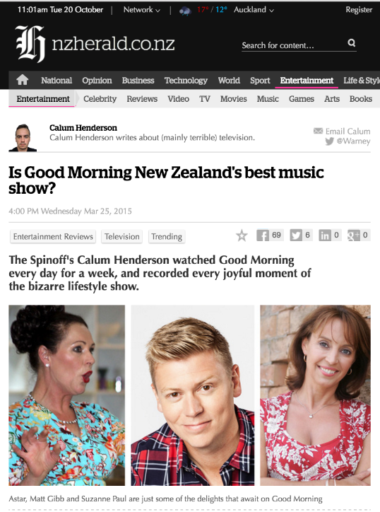 Is Good Morning NZ's best music show