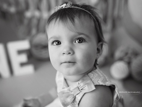 Florence's First Birthday Cake Smash | Serenade Photography Chester