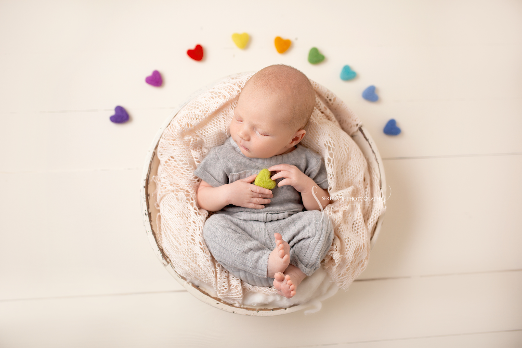 professional newborn photo shoot