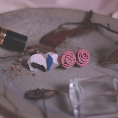 Dusty Pink Roses Multicoloured Abstract Hair Barrette