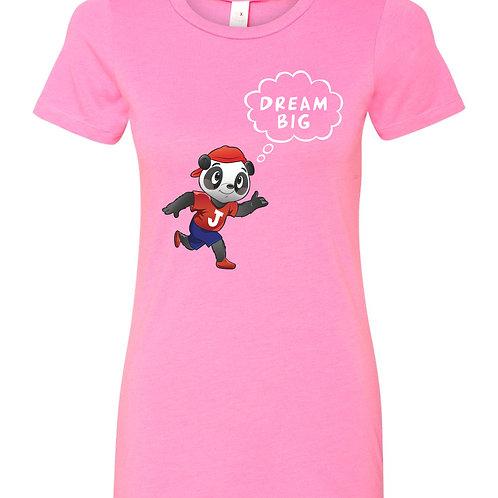 Womens  Pink 'DREAM BIG' T Shirt