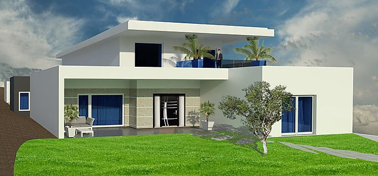 Projeto Arquitetura - Moradia - 3D - Covilhã