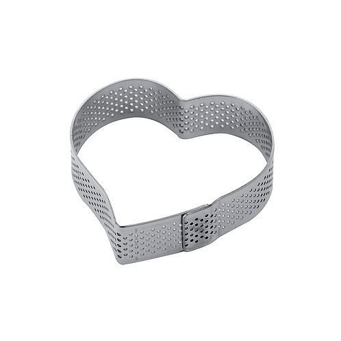 Micro-perforated Steel Heart Band. XF14.