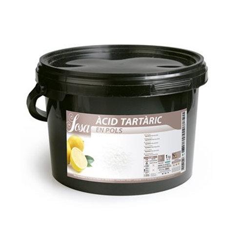 Sosa Tartaric Acid 3kg, BUCKET