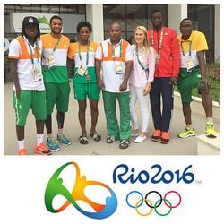Au village Olympique avec la délégation