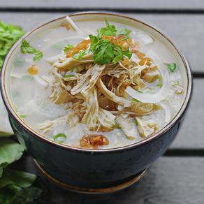 (Chao Ga) Vietnamese Chicken Rice Chowder.