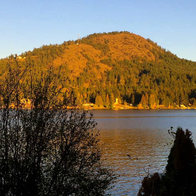 Evening sunshine on Mt. Baldy