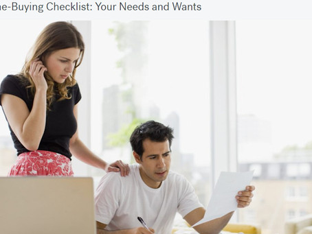 A Home-Buying Checklist