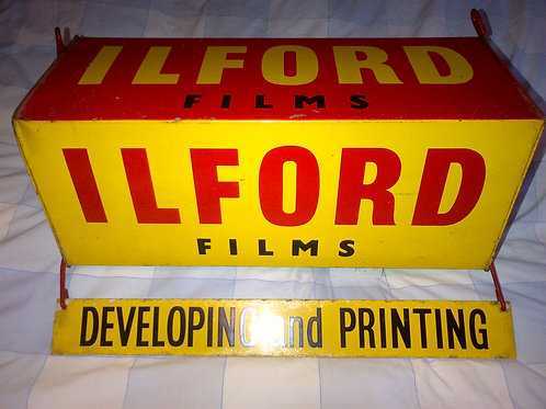 "Ilford Film ""Box"" hanging sign"