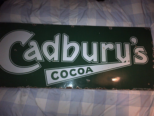 Cadburys Cocoa Enamel Sign
