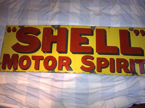 Shell Enamel Sign