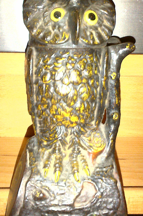 Owl Cast 19th Century US Money Box