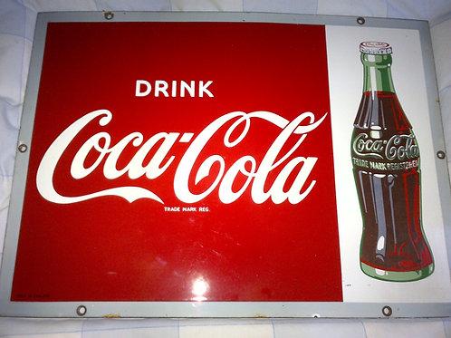 Coca Cola Enamel Sign circa 1950's/60's