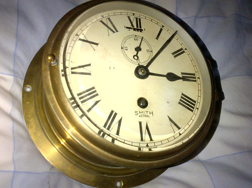 Smiths Brass Ships Clock