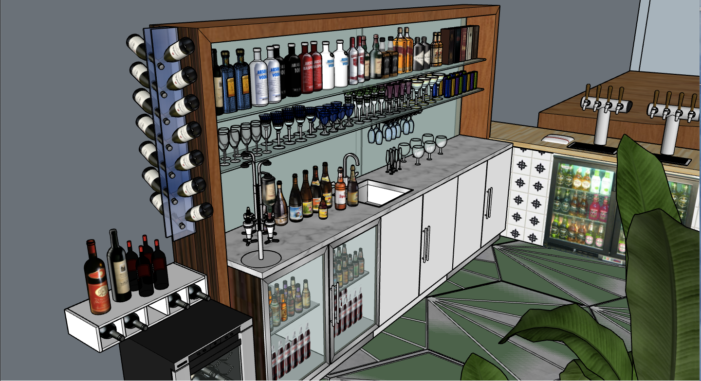 view from back of bar