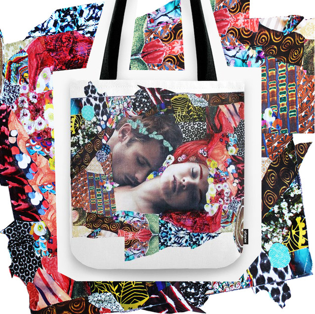 Klimt Kiss Collage - Tote Bag