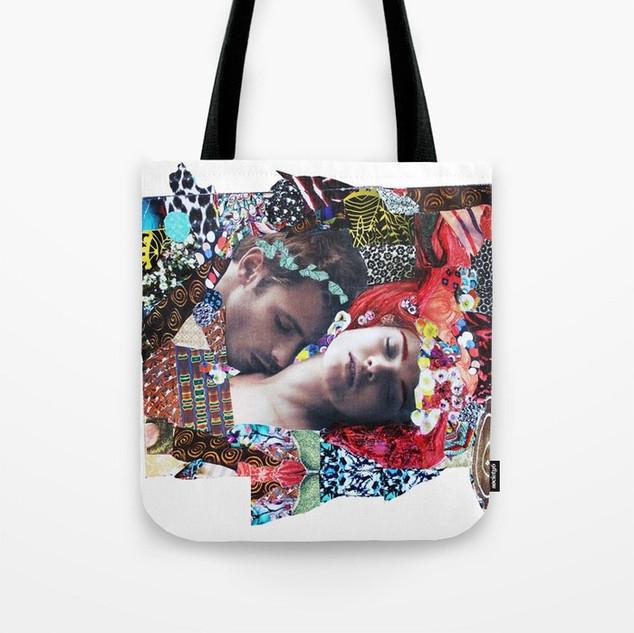 klimt Kiss Collage Tote Bag