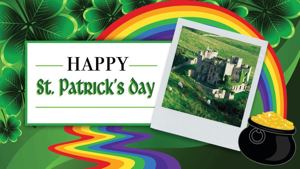 St. Patricks Day Engagement Post