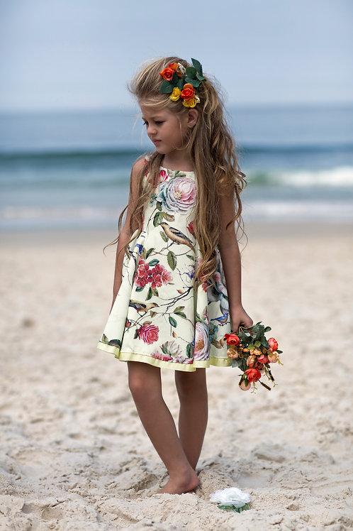 Vestido Luluzinha c/ aplicação de strass e pérolas