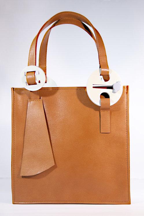 """""""A.Einstein"""" Genuine Leather Handbag"""