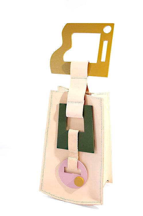 """Jetsons"" Single Handle Veg-Tanned Leather Handbag"