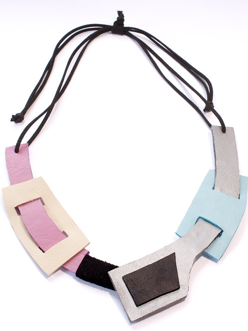 """Jiyu"" In Galactic Statement Leather Neckpiece"