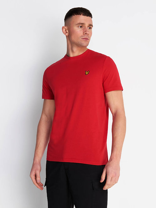 Crew Neck T-Shirt-Gala Red