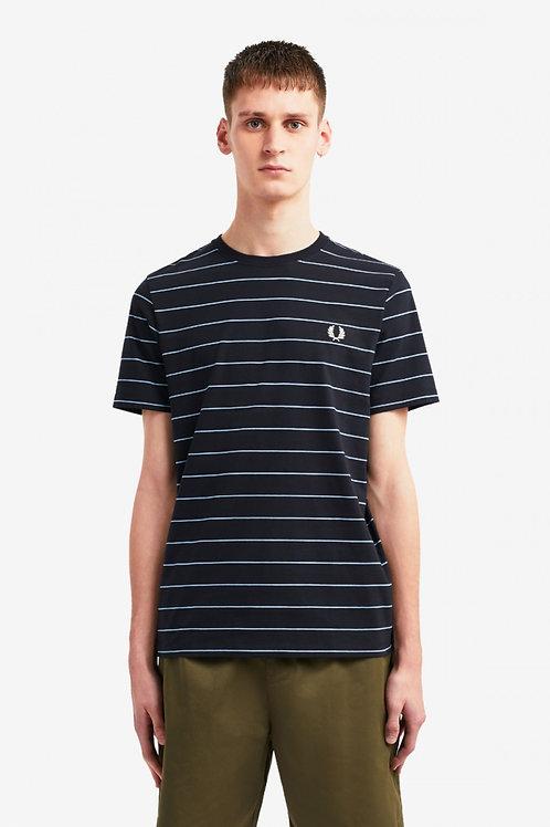 Fine Stripe T-Shirt-Navy