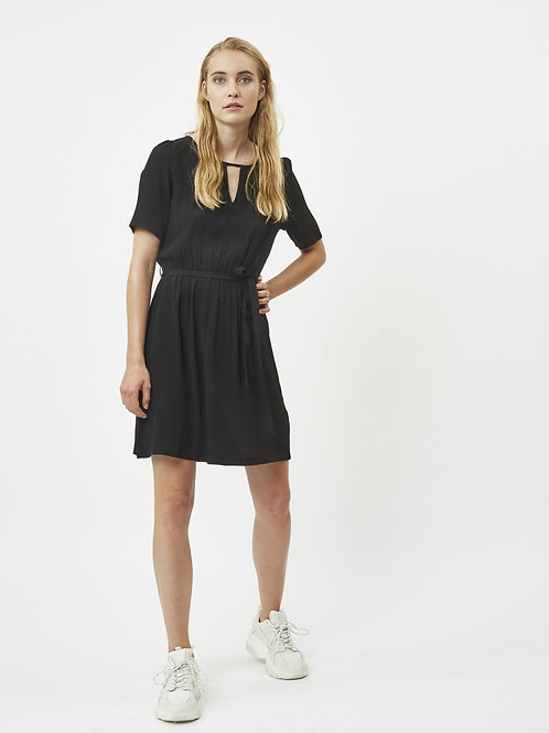Amarante Short Dress-Black
