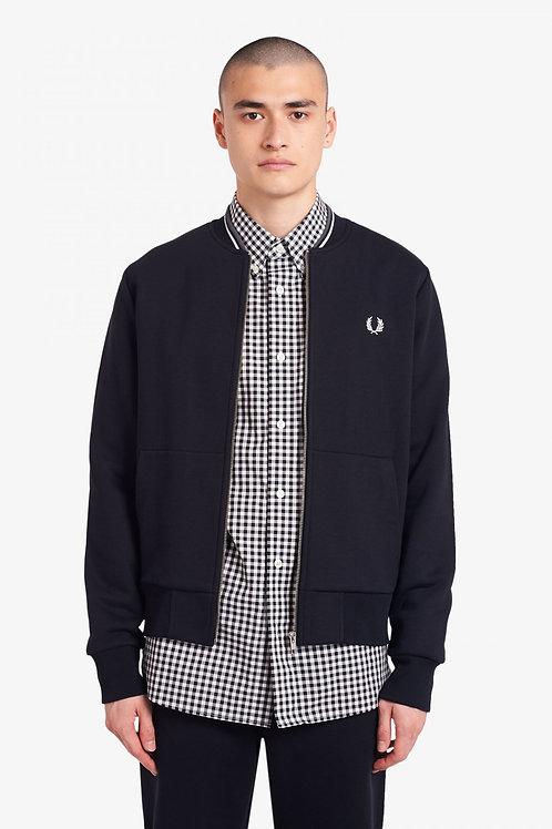 Zip Through Sweatshirt-Black