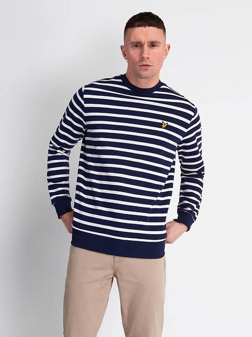 Breton Stripe Sweatshirt-Navy
