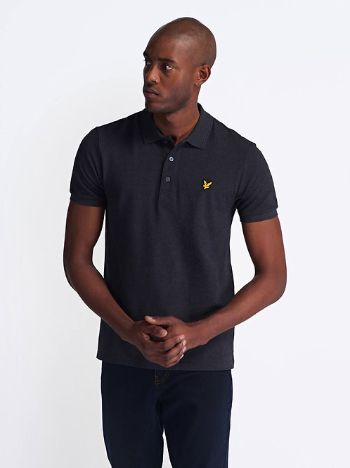 Polo Shirt-Charcoal Marl