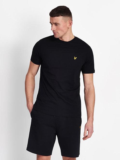 Crew Neck T-Shirt-True Black