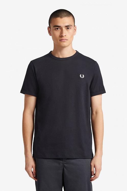 Ringer T Shirt-Navy