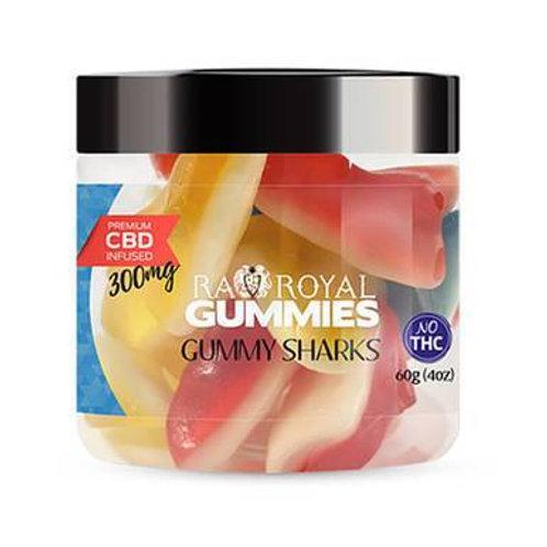 RA Royal CBD - CBD Edible - Gummy Sharks Gummies - 300mg-1200mg