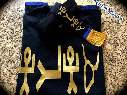 AHAYAH T-Shirt Fringed & Border w Mitre