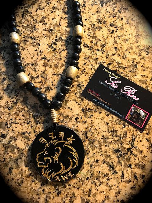 Ahayah ~ Yashaya Leather Medallion