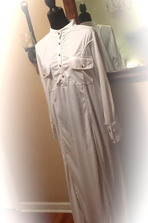 White Sister Modest Straight Button Garment