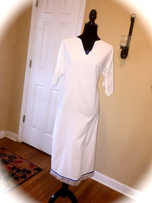 Sister Fringed Bordered Tunic w Royal Chest Cap
