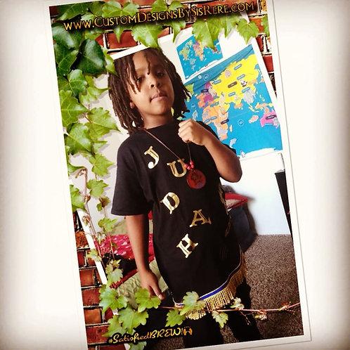 Childs Lion Border & Fringe (Option)&T-shirt