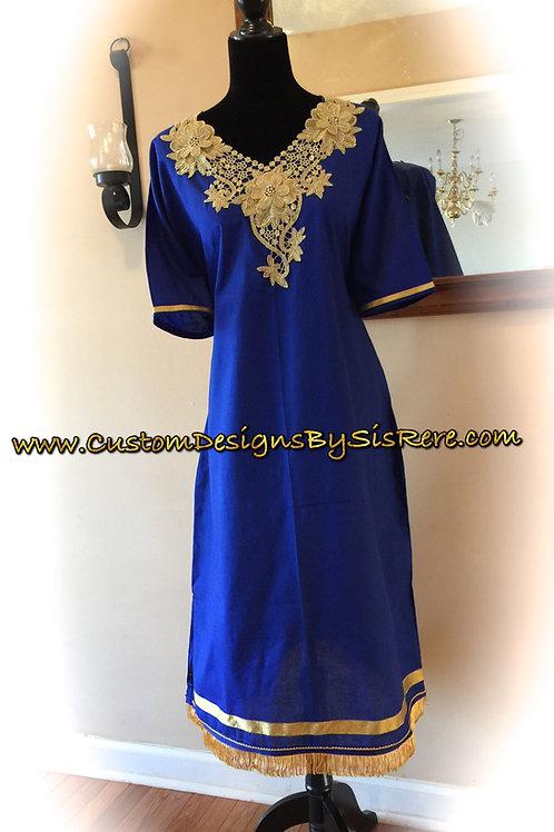 Sister Modest Fringed Bordered Embroidered Garment