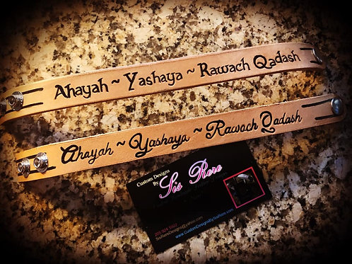 Ahayah~Yashaya~ Rawach Qadash Wrist Cuff