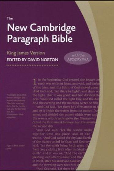 KJV Holy Bible w APOCRYPHA - New Cambridge