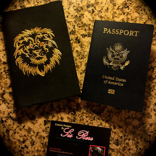 Custom Leather Passport Cover